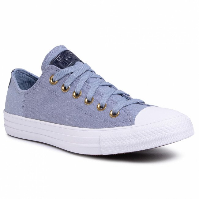 Tramky CONVERSE - Ctas Ox 167823C  Blue Slate/Obsidian/White