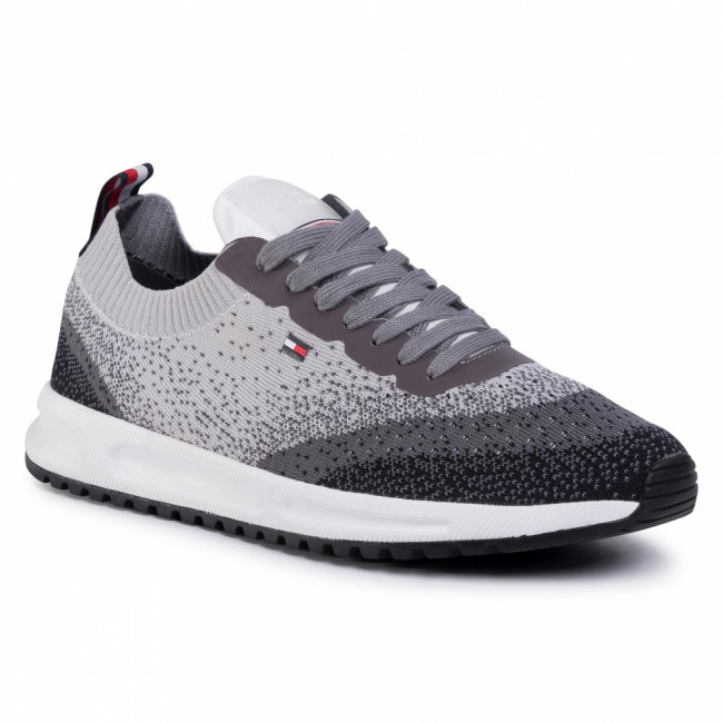 Sneakersy TOMMY HILFIGER - Modern Knit Runner FM0FM02663 Pewter Grey PQ8
