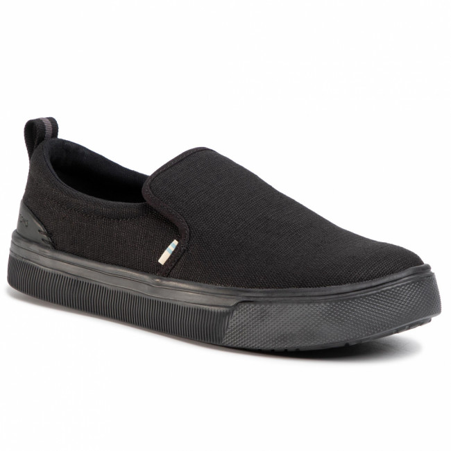 Tenisky TOMS - Trvl Lite Slip On 10013275 Black/Black Heritage Canvas
