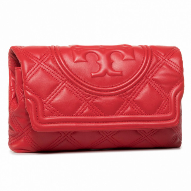 Kabelka TORY BURCH - Fleming Soft Clutch 59690 Brilliant Red 612