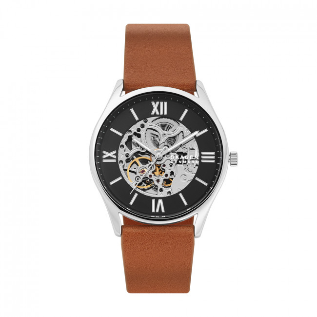 Hodinky SKAGEN - Holst Automatic SKW6613 Brown/Silver