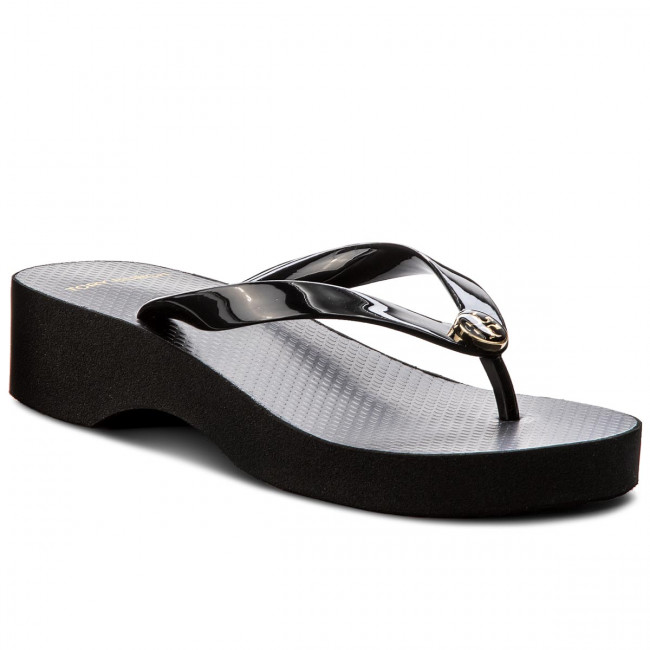 Žabky TORY BURCH - Cut-Out Wedre Flip Flop 48211 Black/Black 009