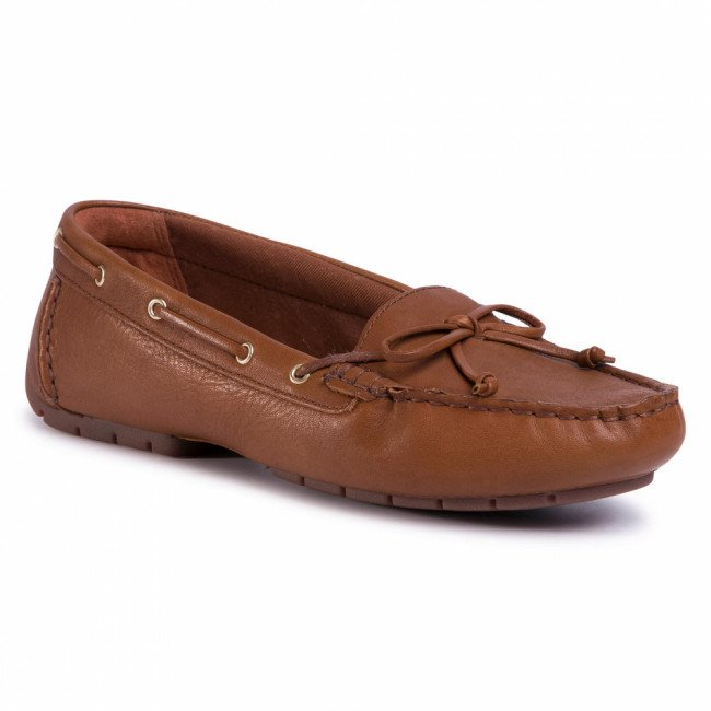 Mokasíny CLARKS - C Mocc Boat 261492724 Tan Leather