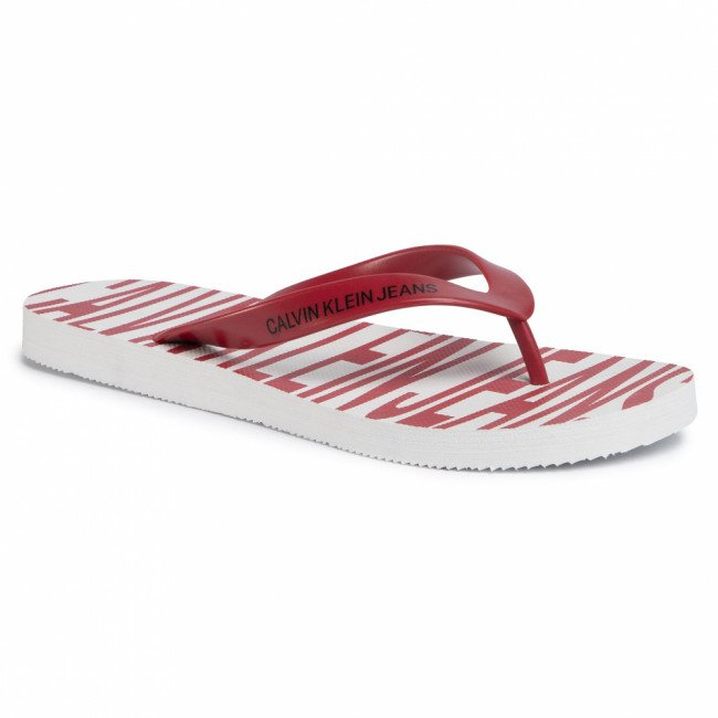 Žabky CALVIN KLEIN JEANS - Enrico B4S0676 White/Racing Red