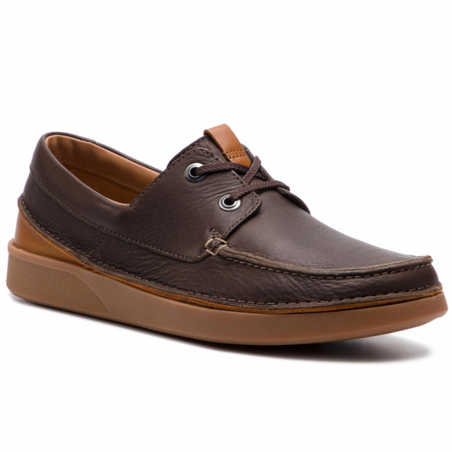 Poltopánky CLARKS - Oakland Sun 261419627 Dark Brown Leather
