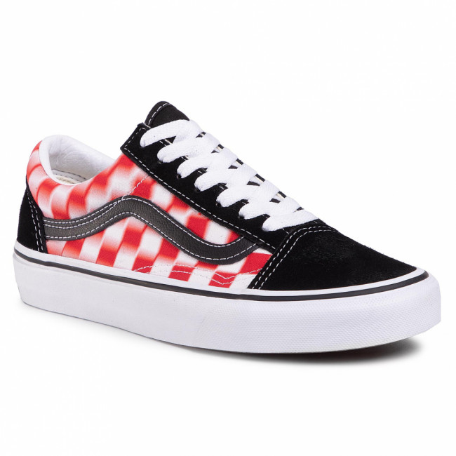 Tenisky VANS - Old Skool VN0A4U3B17Z1 (Blur Check) True Wht/Red