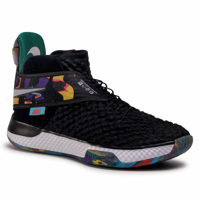 Topánky NIKE - Air Zoom Unvrs Flyease CQ6422 001 Black/White/Black/Current Blue