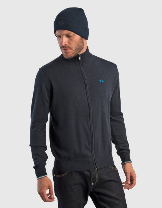 Sveter La Martina Man Tricot Full Zip Gg12