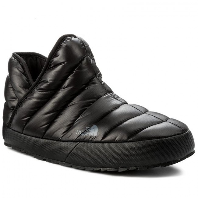 Papuče THE NORTH FACE - Thermoball Traction Bootie T93MKHYXA Shiny Tnf Black/Dark Shadow Grey