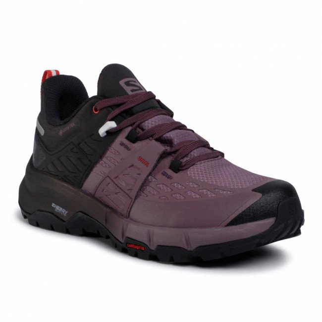 Topánky SALOMON - Odyssey Gtx W GORE-TEX 411451 20 V0 Black/Flint/High Risk Red