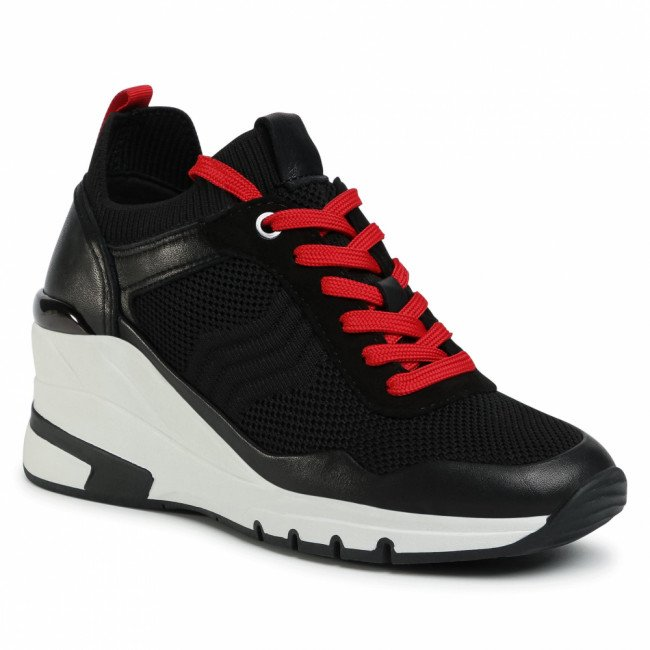 Sneakersy CAPRICE - 9-23709-25 Black/Red 023