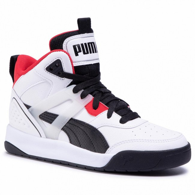 Sneakersy PUMA - Backcourt Mid Jr 374411 01 White/Black/Red/Silver