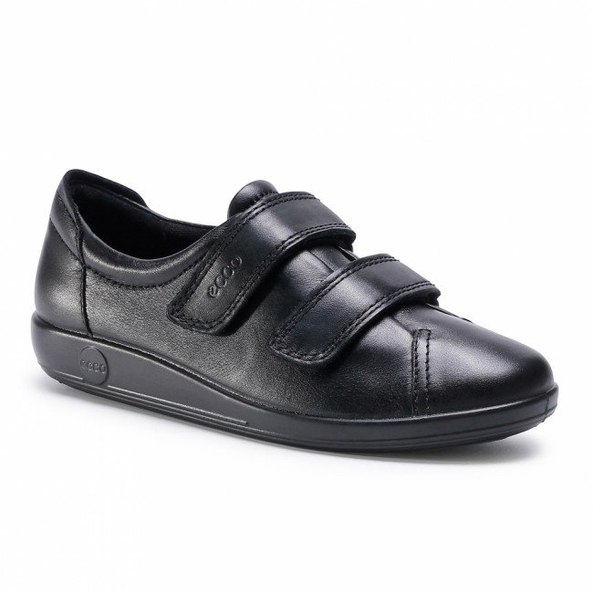 Poltopánky ECCO - Soft 2.0 20651356723 Black With Black Sole
