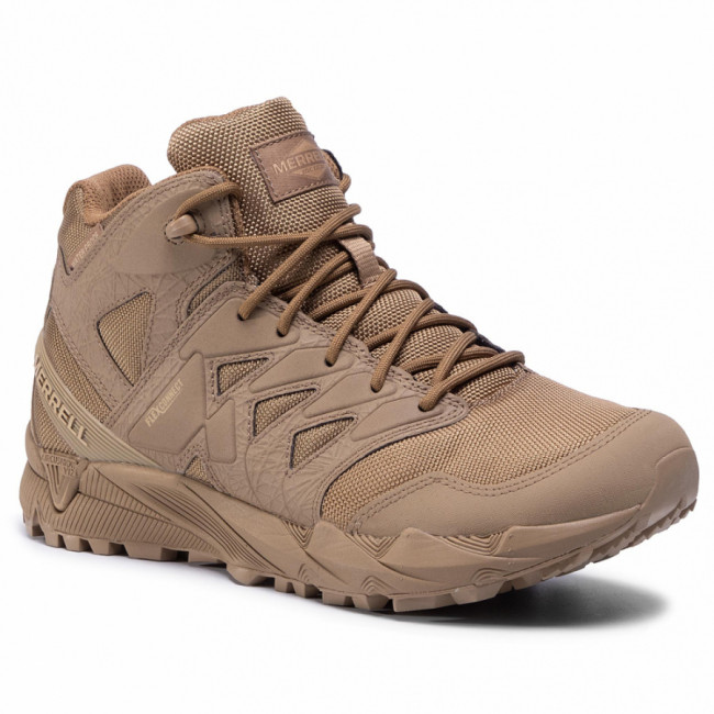 Topánky MERRELL - Agility Peak Mid Tactical Wp J17853 Coyote