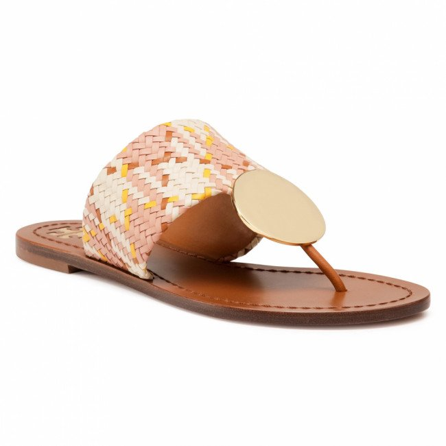 Žabky TORY BURCH - Patos Disk Sandal 74314 Woven/Neutral Woven 811