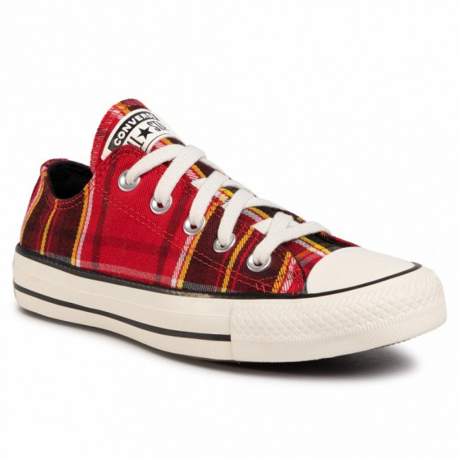 Tramky CONVERSE - Ctas Ox 568926C  University Red/Black/Egret