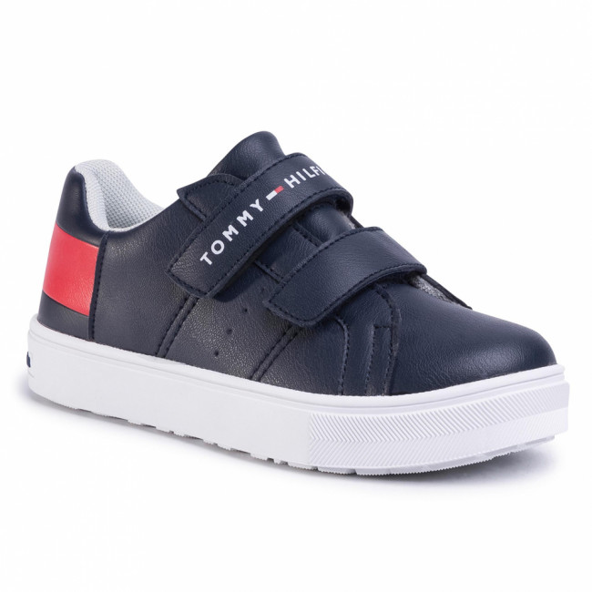 Sneakersy TOMMY HILFIGER - Low Cut Velcro Sneaker T3B4-30719-0193 M Blue/White/Red Y004