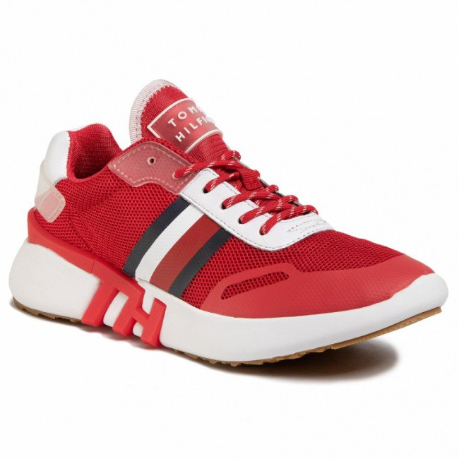 Sneakersy TOMMY HILFIGER - Tommy Sporty Branded Runner FW0FW04700 Primary Red XLG
