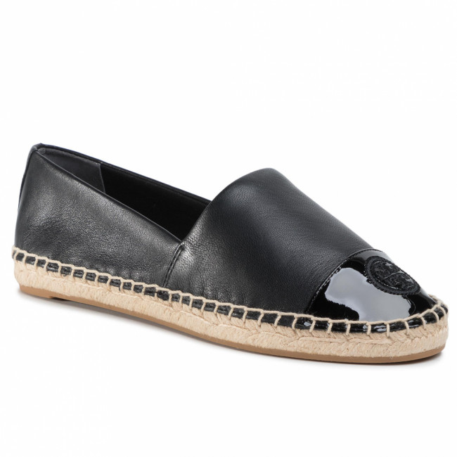 Espadrilky TORY BURCH - Color Block Flat Espadrille 61194 Perfect Black/Perfect Black 004