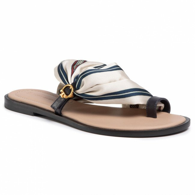 Žabky TORY BURCH - Selby Scarf Sandal 70503 Border Stripe/Perfect Navy 812