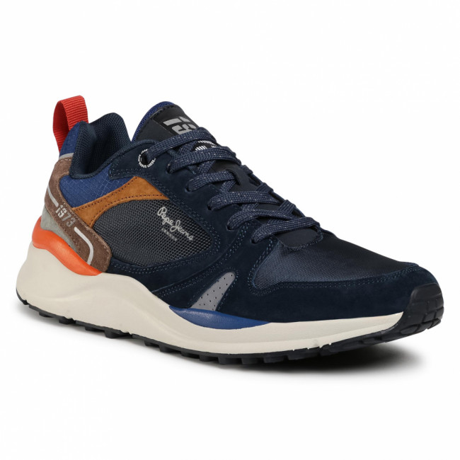 Sneakersy PEPE JEANS - Trail Light Low 73 PMS30679 Navy 595