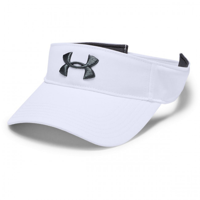 Šiltovka Under Armour Men's Core Golf Visor-WHT