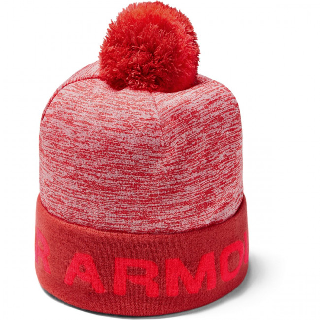 Čiapka Under Armour Boy\'S Gametime Pom Beanie-Red