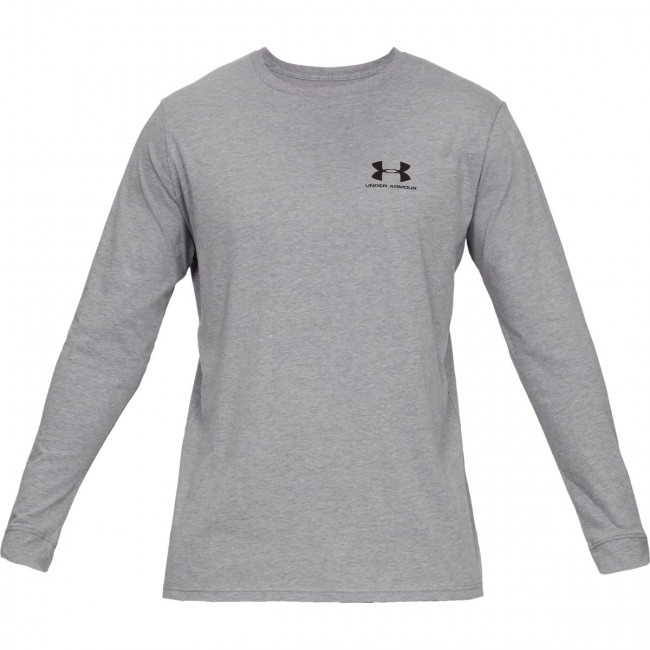 Tričko Under Armour SPORTSTYLE LEFT CHEST LS-GRY