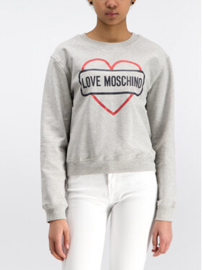 LOVE MOSCHINO Mikina W630621E2017 Sivá Regular Fit