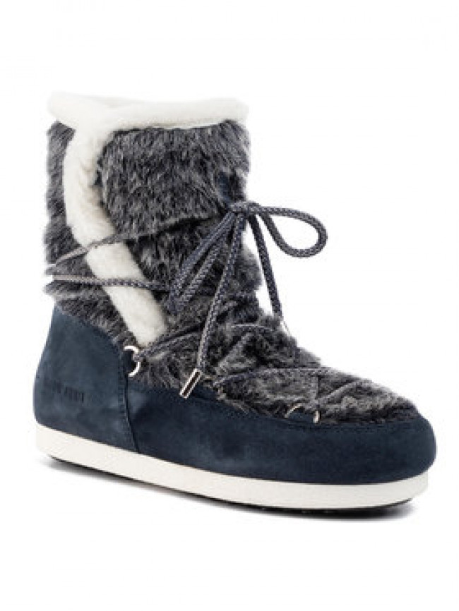 Moon Boot Snehule Mb Far Side High Faux Fur 24201000001 Tmavomodrá