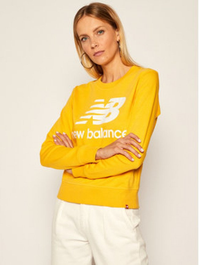 New Balance Mikina Essentials Crew NBWT03551 Žltá Relaxed Fit