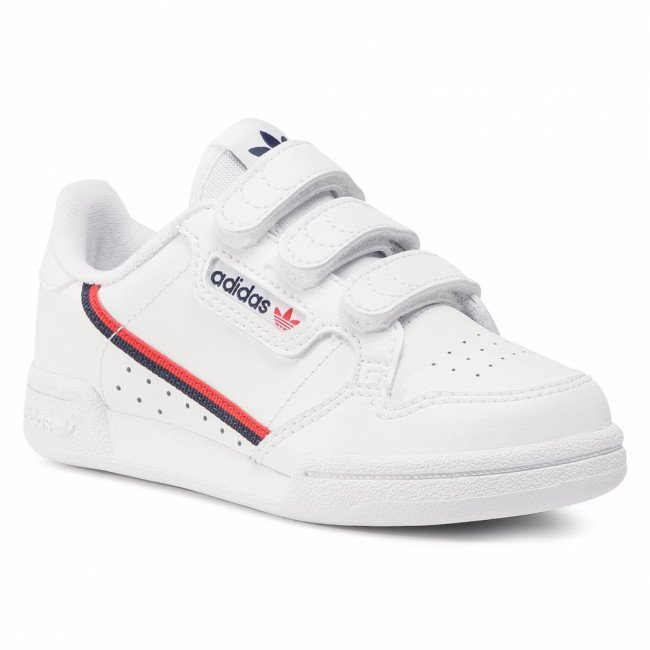 Topánky adidas - Continental 80 Cf C EH3222 Ftwwht/Ftwwht/Scarle