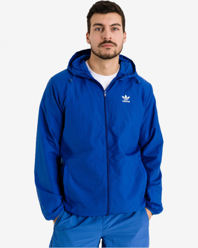 adidas Originals Trefoil Essentials Windbreaker Bunda Modrá