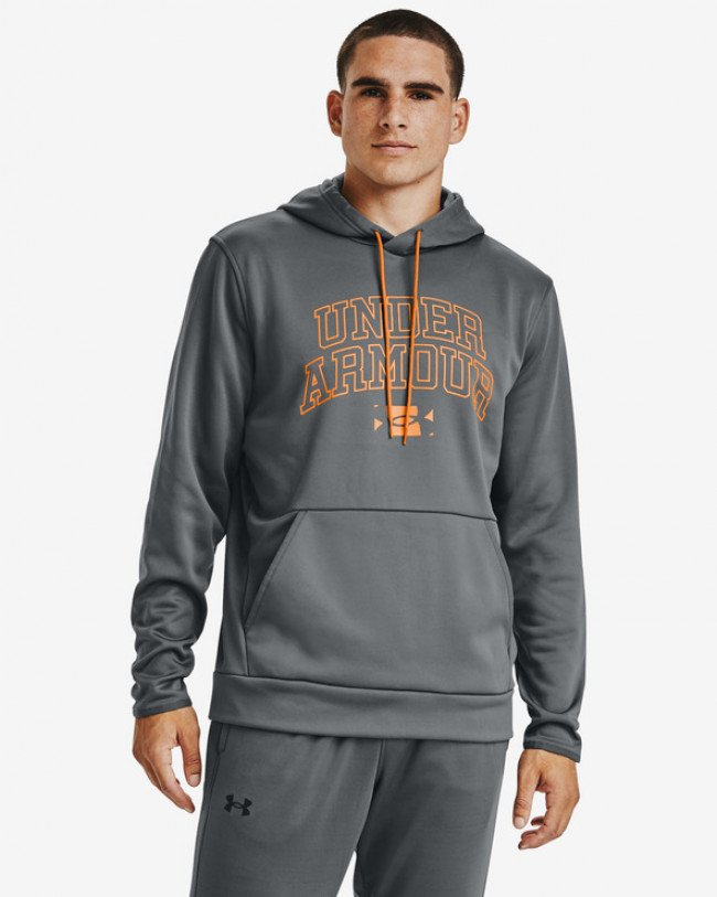 Under Armour Armour Fleece® Script Graphic Mikina Šedá