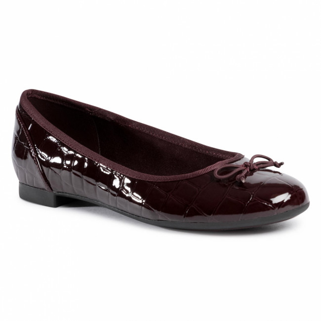 Baleríny CLARKS - Couture Bloom 261514714  Burgundy
