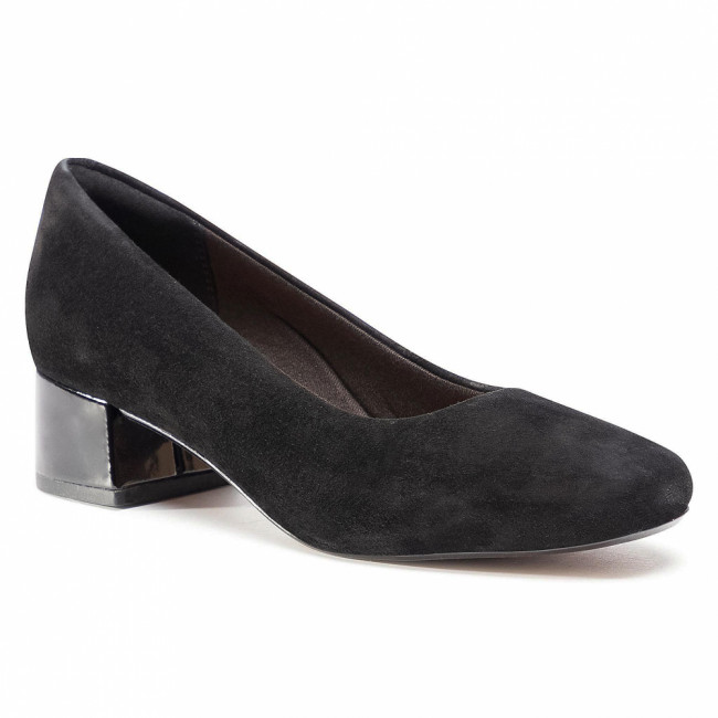 Poltopánky CLARKS - Marilyn Leah 261534164 Black Suede