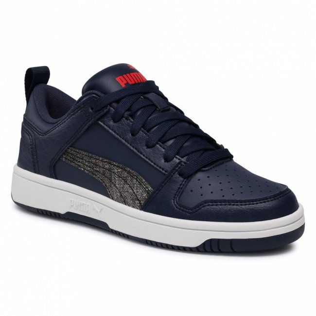 Sneakersy PUMA - Rb LayUp Garment Washed Jr 371474 02 Peacoat/Black/High Risk Red