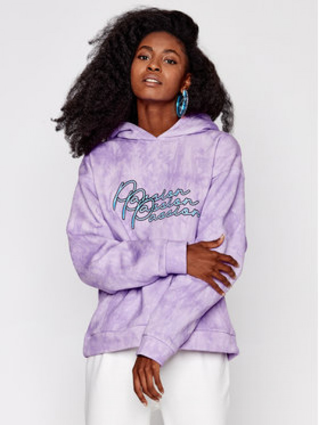 Local Heroes Mikina Passion AW2021S0005 Fialová Relaxed Fit
