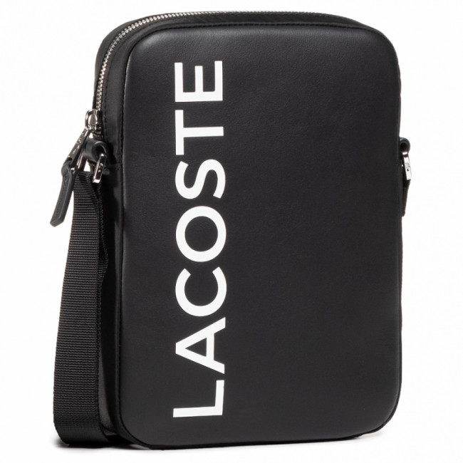 Brašna LACOSTE - M Vertical Camera Bag NH2933IA Noir Blanc 279