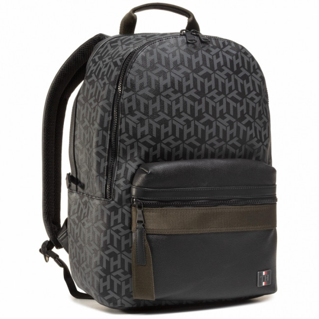 Ruksak TOMMY HILFIGER - Coated Canvas Backpack AM0AM06466 0GJ