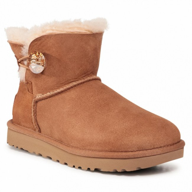 Topánky UGG - W Mini Bailey Button Bling 1016554 Ctgl