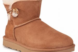 Topánky UGG - W Mini Bailey Button Bling 1016554