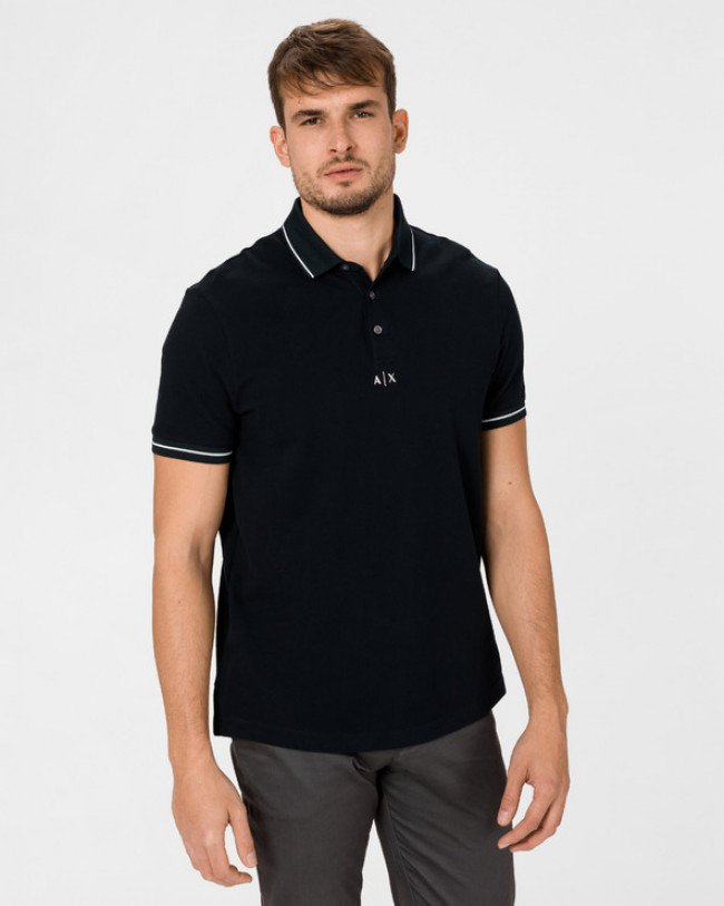 Armani Exchange Polo tričko Modrá