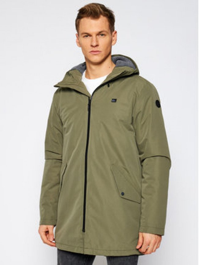 Quiksilver Parka Skyward EQYJK03611 Zelená Regular Fit