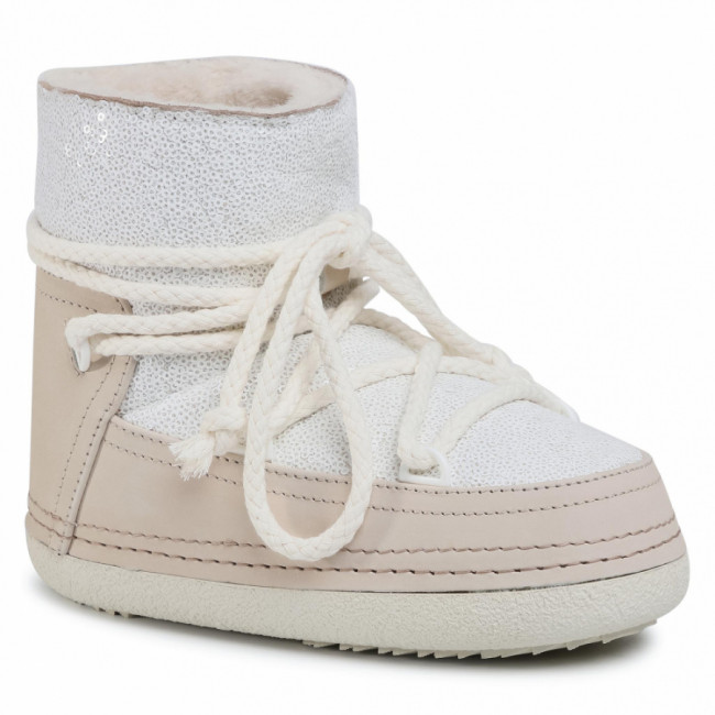 Topánky INUIKII - Boot Full Leather 70101-009 Sequin White