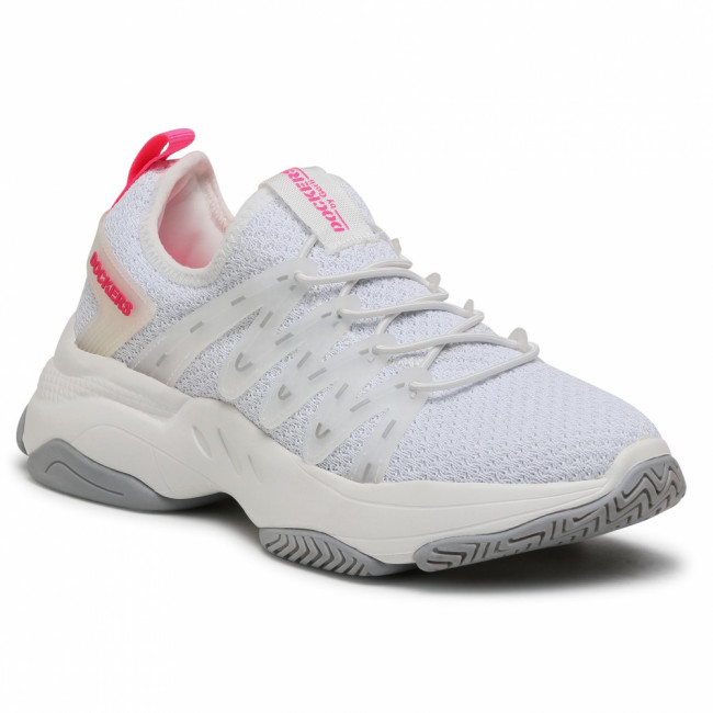 Sneakersy DOCKERS BY GERLI - 46AC202-700596 Weiß/Neon Pink/White/Neon Pink