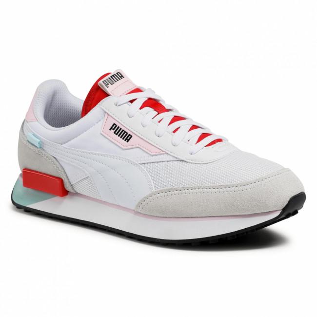 Sneakersy PUMA - Future Rider Neon Play 373383 09 Puma White/Poppy Red