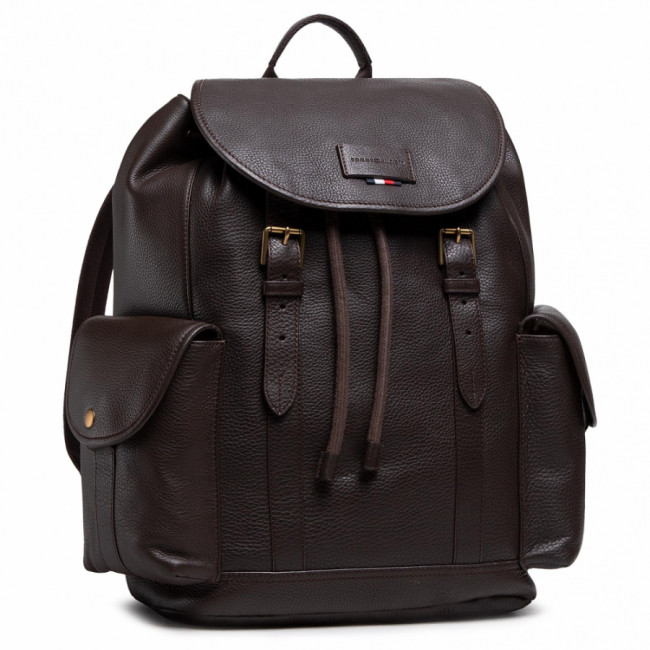 Ruksak TOMMY HILFIGER - Casual Leather Flap Backpack AM0AM06844 GE4