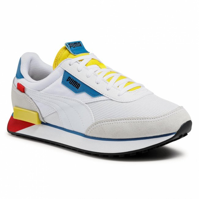 Sneakersy PUMA - Future Rider Neon Play 373383 08 Puma White/Maize