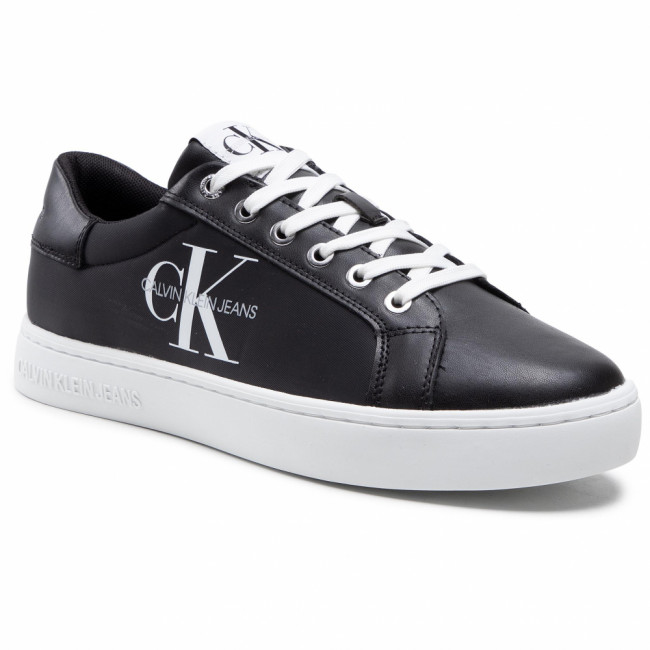 Sneakersy CALVIN KLEIN JEANS - Cupsole Sneaker Laceup Pu-Ny YM0YM00029 Black BDS